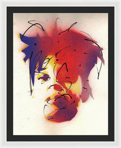 Portrait Of Jean Michel Basquiat - Framed Print