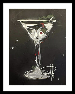 Black Martini I - Framed Print