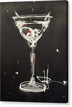 Load image into Gallery viewer, Black Martini II - Canvas Print