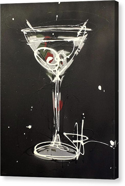 Black Martini II - Canvas Print