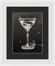 Load image into Gallery viewer, Black Martini II - Framed Print
