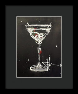 Black Martini II - Framed Print