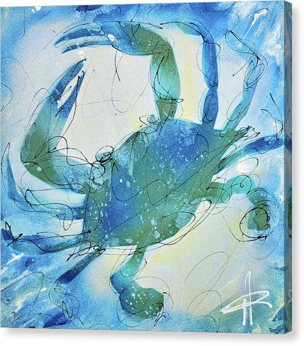 Blue Crab I - Canvas Print