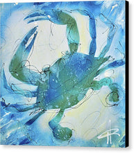 Load image into Gallery viewer, Blue Crab I - Canvas Print