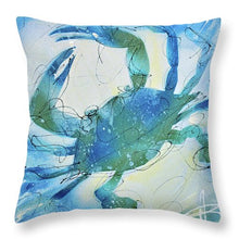 Load image into Gallery viewer, Blue Crab I - Throw Pillow