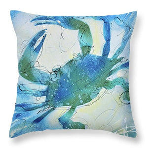 Blue Crab I - Throw Pillow