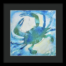 Load image into Gallery viewer, Blue Crab I - Framed Print
