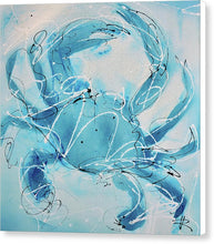 Load image into Gallery viewer, Blue Crab II - Canvas Print