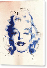 Load image into Gallery viewer, Blue Marilyn - Portrait of Marilyn Monroe Canvas Print by Ryan Hopkins