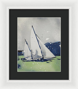 Chesapeake Log Canoe I - Framed Print