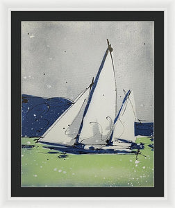 Chesapeake Log Canoe II - Framed Print