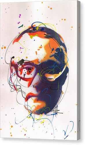 Portrait of Damien Hirst II- Canvas Print by Ryan Hopkins