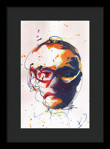 Portrait of Damien Hirst II - Framed Print by Ryan Hopkins