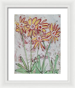 Happy Flowers - Framed Print