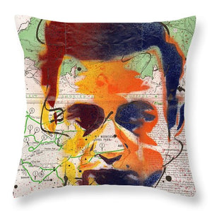 Johnny Cash - Gatlinburg Tennessee - Throw Pillow