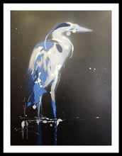 Load image into Gallery viewer, Midnight Blue Heron I - Framed Print