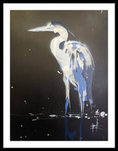 Load image into Gallery viewer, Midnight Blue Heron II - Framed Print