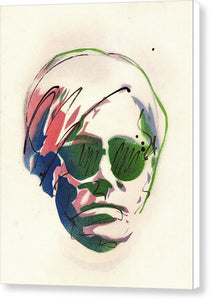 Portrait Of Andy Warhol #2 - Canvas Print