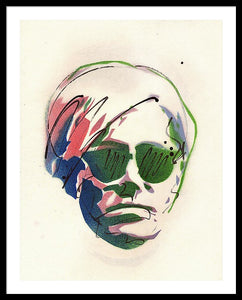 Portrait Of Andy Warhol #2 - Framed Print