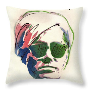 Portrait Of Andy Warhol #2 - Throw Pillow