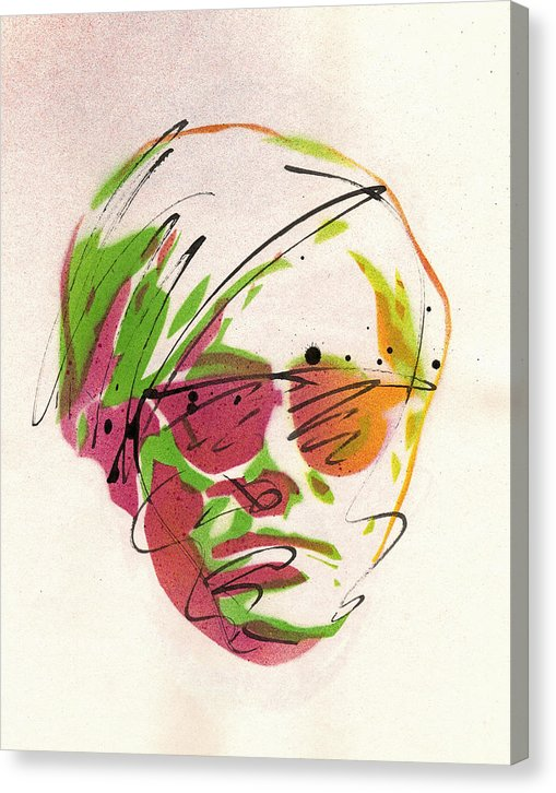 Portrait Of Andy Warhol - Canvas Print