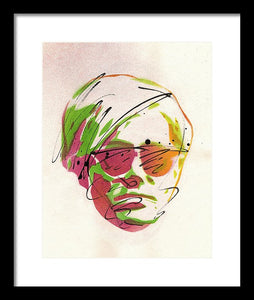Portrait Of Andy Warhol - Framed Print