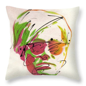 Portrait Of Andy Warhol - Throw Pillow