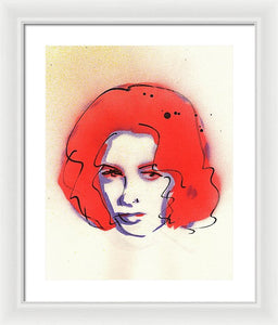 Portrait Of Elizabeth Taylor #2 - Framed Print