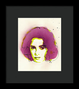 Portrait Of Elizabeth Taylor - Framed Print