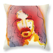 Load image into Gallery viewer, Portrait Of Frank Zappa - Throw Pillow