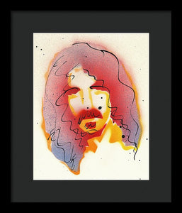 Portrait Of Frank Zappa - Framed Print