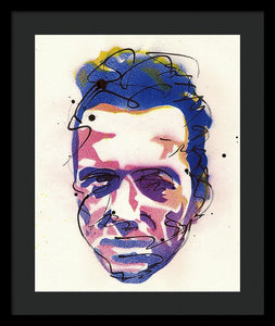 Portrait Of Joe Strummer - Framed Print