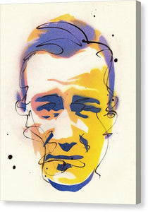 Portrait Of John Wayne - Canvas Print