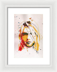 Portrait Of Kurt Cobain #2 - Framed Print