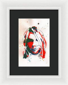 Portrait Of Kurt Cobain #3 - Framed Print