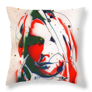 Portrait Of Kurt Cobain #3 - Throw Pillow