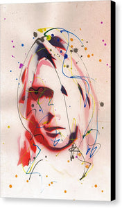Portrait Of Kurt Cobain - Canvas Print