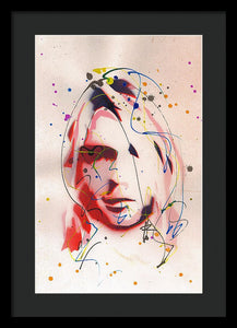 Portrait Of Kurt Cobain - Framed Print