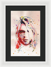 Load image into Gallery viewer, Portrait Of Kurt Cobain - Framed Print