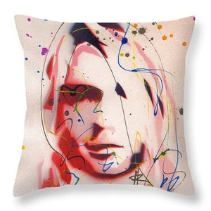 Portrait Of Kurt Cobain - Throw Pillow