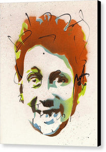 Portrait Of Shane Macgowan - Canvas Print by Ryan Hopkins