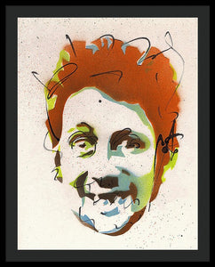 Portrait Of Shane Macgowan - Framed Print by Ryan Hopkins