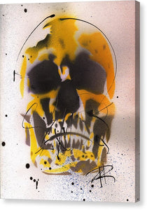 Skull IX - Canvas Print by Ryan Hopkins