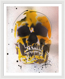 Skull IX - Framed Print by Ryan Hopkins