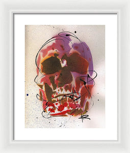 Skull X - Framed Print by Ryan Hopkins