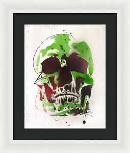 Skull XI - Framed Print by Ryan Hopkins
