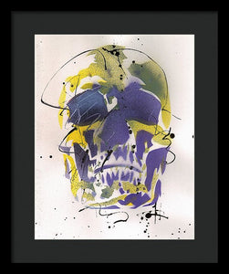 Skull XII - Framed Print by Ryan Hopkins