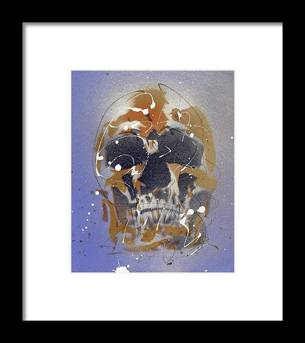 Skull II - Framed Print by Ryan Hopkins
