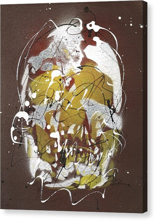 Skull VIII - Canvas Print by Ryan Hopkins