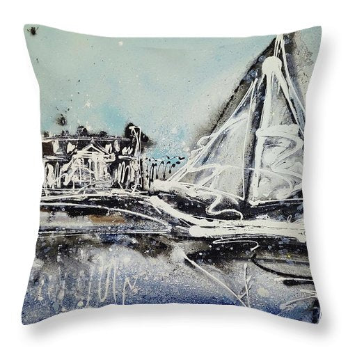 St Michaels Storm - Throw Pillow